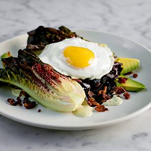 Egg on Lettuce